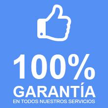 100% garantía en nuestros servicios